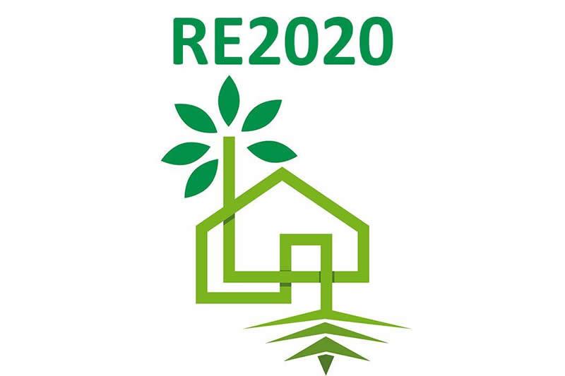 Logo de la nouvelle réglementation environnementale RE2020