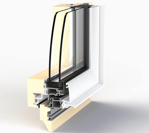 Coupe fenêtre Zéphyr 80F, pour pose en rénovation.