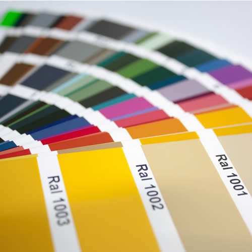Plaquette des coloris RAL pour les fenêtres de EPMi Menuiseries.