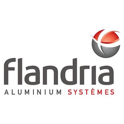 Logo de Flandria, extrudeur de profilés aluminium.