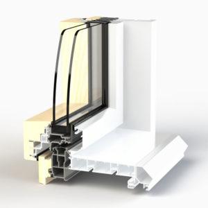 Dormant de fenêtre EPMi Zéphyr 80F pour pose en applique intérieur