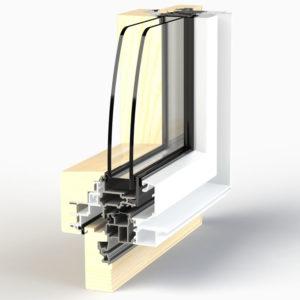 Dormant de fenêtre EPMi Zéphyr 80F pour pose rénovation