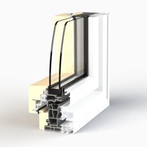 Dormant de fenêtre EPMi Zéphyr 80F pour pose en tunnel