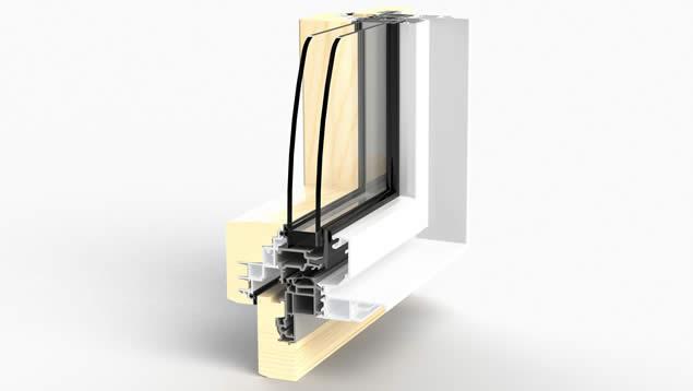 Dormant de fenêtre WERNER Zéphyr 80F pour pose rénovation