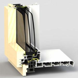 Dormant de fenêtre WERNER BT80F pour pose en applique intérieur