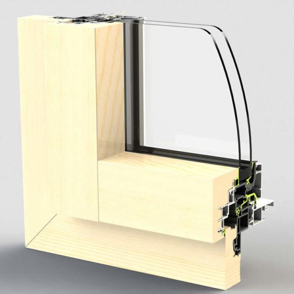 Dormant de fenêtre WERNER BT80F pour pose rénovation